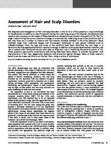Assessment of Hair and Scalp Disorders - Journal of Investigative ...