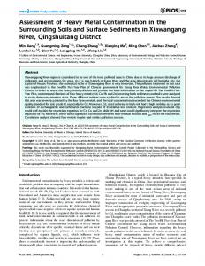 Assessment of Heavy Metal Contamination in the Surrounding Soils