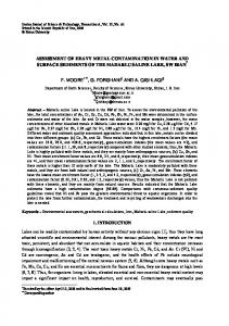 assessment of heavy metal contamination in water and surface ...