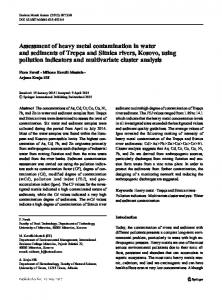 Assessment of heavy metal contamination in water and sediments of