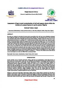 Assessment of heavy metal contamination of soil and ... - iMedpub