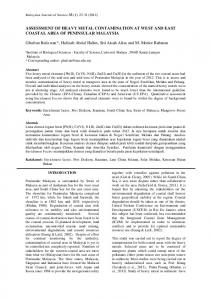 ASSESSMENT OF HEAVY METAL CONTAMINATION ... - UM Repository