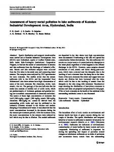 Assessment of heavy metal pollution in lake sediments of Katedan ...