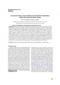 Assessment of heavy metal pollution in soil and their ...