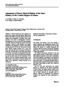 Assessment of Heavy Metal Pollution of the Iture ... - Springer Link