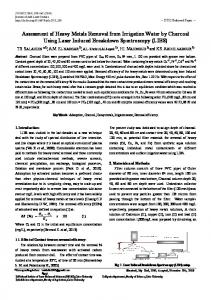 Assessment of Heavy Metals Removal from Irrigation Water by