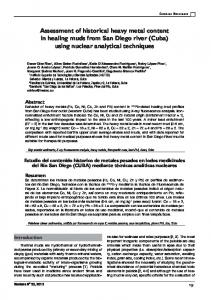 Assessment of historical heavy metal content in ... - SciELO Cuba