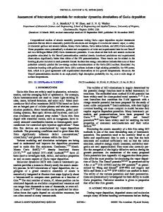 Assessment of interatomic potentials for molecular