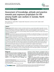 Assessment of knowledge, attitude and practice ... - ScienceOpen
