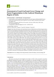 Assessment of Land-Use/Land-Cover Change and Forest ... - MDPI