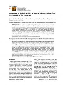 Assessment of lipolytic activity of isolated microorganisms from ... - UEM