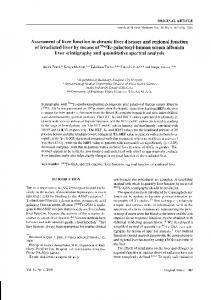 Assessment of liver function in chronic liver diseases and regional ...