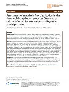 Assessment of metabolic flux distribution in the ... - BioMedSearch