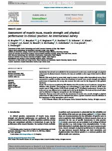 Assessment of muscle mass, muscle strength and physical ... - ESCEO