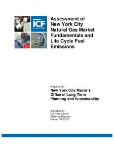 Assessment of New York City Natural Gas Market Fundamentals ...