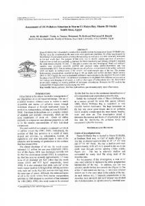Assessment of oil pollution situation in Sharm El ...