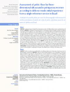 Assessment of pelvic floor by three- dimensional-ultrasound ... - SciELO