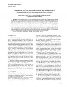 Assessment of persistent organic pollutants and their ... - SciELO