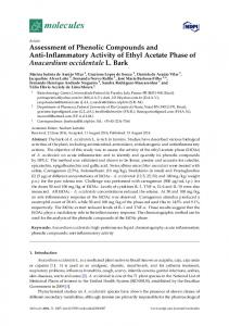 Assessment of Phenolic Compounds and Anti
