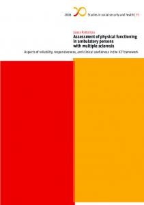 Assessment of physical functioning in ambulatory persons with ... - Helda