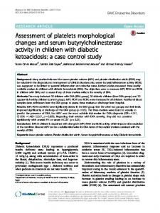 Assessment of platelets morphological changes and serum