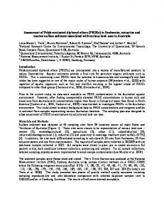 Assessment of Polybrominated diphenyl ethers (PBDEs) in freshwater ...