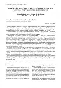 Assessment of postural stability in patients with a ... - Acta Gymnica