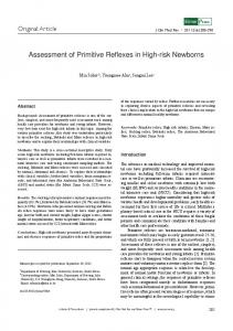 Assessment of Primitive Reflexes in High-risk Newborns - ScienceOpen