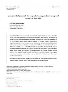 Assessment of protocols for surgical-site