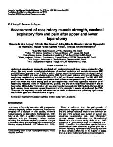 Assessment of respiratory muscle strength