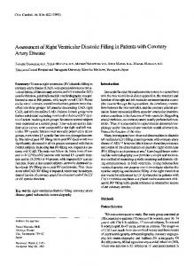 Assessment of right ventricular diastolic filling in ... - Wiley Online Library