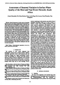 Assessment of Seasonal Variation in Surface Water Quality of the ...