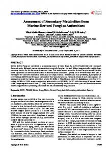 Assessment of Secondary Metabolites from Marine-Derived Fungi as