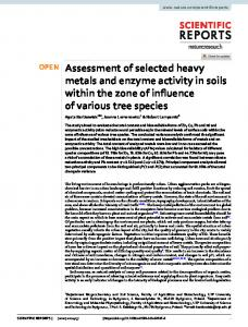 Assessment of selected heavy metals and enzyme ... - Naturewww.researchgate.net › publication › fulltext › Assessmen