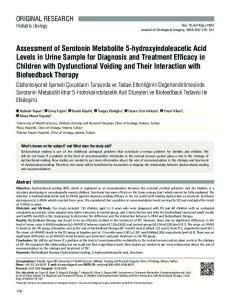 Assessment of Serotonin Metabolite 5