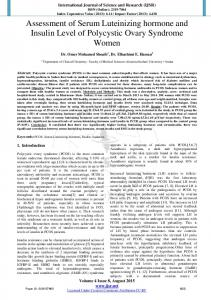 Assessment of Serum Luteinizing hormone and ...