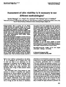 Assessment of skin viability - Wiley Online Library