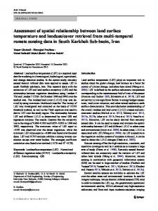 Assessment of spatial relationship between land