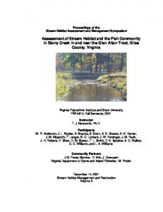 Assessment of Stream Habitat and the Fish ...