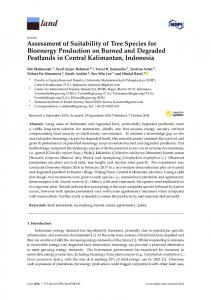 Assessment of Suitability of Tree Species for Bioenergy ... - CIFOR