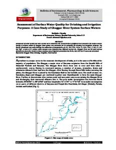 Assessment of Surface Water Quality for Drinking and Irrigation