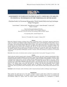 assessment of surface water quality using multivariate statistical ... - UKM