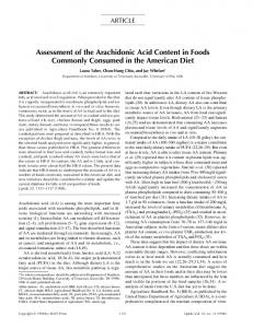 Assessment of the arachidonic acid content in foods ... - Springer Link