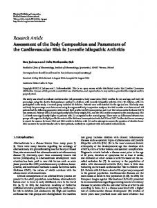 Assessment of the Body Composition and Parameters of the ...