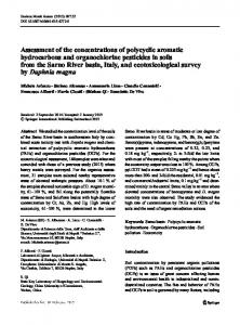 Assessment of the concentrations of polycyclic ...