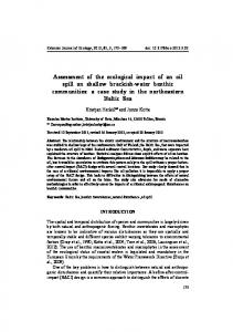 Assessment of the ecological impact of an oil spill on shallow brackish ...