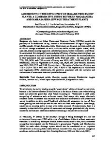 assessment of the efficiency of sewage treatment plants - Core