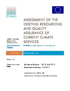 assessment of the existing resourcing and quality assurance of current ...