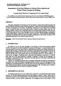 Assessment of the Exit Defects in Carbon Fibre-Reinforced Plastic ...