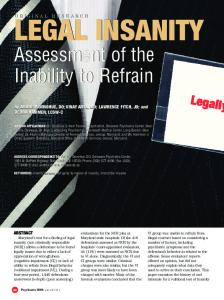 Assessment of the Inability to Refrain Assessment of ...